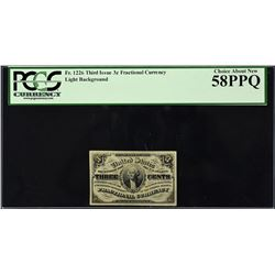 Lot of (2) Third Issue. 3 Cents Frational Currency. PCGS Currency Graded.