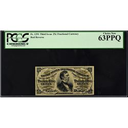 Lot of (2) Third Issue. 25 Cents Frational Currency. PCGS Currency Graded.