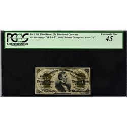 Fr. 1300. Third Issue. 25 Cents. PCGS Currency Extremely Fine 45.