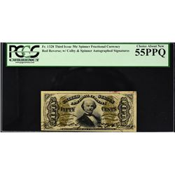 Lot of (2) Third Issue. Spinner. 50 Cents Frational Currency. PCGS Currency Graded.