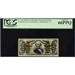 Fr. 1334. Third Issue. Spinner. 50 Cents. PCGS Currency Gem New 66 PPQ.