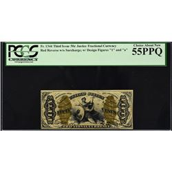 Fr. 1344. Third Issue. Justice. 50 Cents. PCGS Currency Choice About New 55 PPQ.