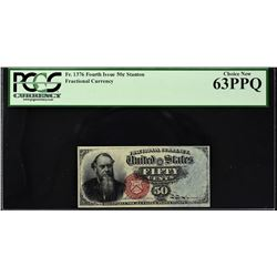 Lot of (2) Fourth Issue. 50 Cents Frational Currency. PCGS Currency Graded.