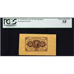 Lot of (4) First Issue. Wide Margin Fractional Currency Specimens. PCGS Currency Graded.