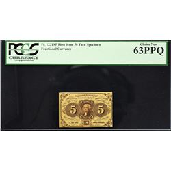 Lot of (8) First Issue. Narrow Margin Fractional Currency Specimens. PCGS Currency Graded.