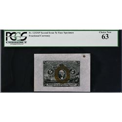 Lot of (6) Second Issue. Wide Margin Fractional Currency Specimens. PCGS Currency Graded.