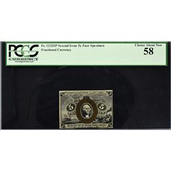Lot of (8) Second Issue. Narrow Margin Fractional Currency Specimens. PCGS Currency Graded.