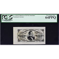 Lot of (3) Third Issue. 25 Cents. Wide Margin Fractional Currency Specimens. PCGS Currency Graded.