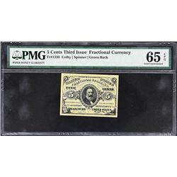 Lot of (3) Third Issue Fractional Currency Notes. PMG Graded.