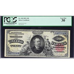 Fr. 318. 1891 $20 Silver Certificate. PCGS Currency Very Fine 30.