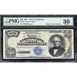 Fr. 335. 1891 $50 Silver Certificate. PMG Very Fine 30.