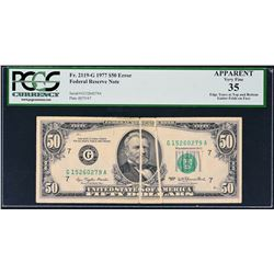 Fr. 2119-G. 1977 $50 Federal Reserve Note. Chicago. PCGS Currency Very Fine 35 Apparent. Edge Tears