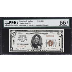 Lot of (2) Portland, Maine National Banknotes. PMG Graded.