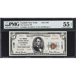 Lot of (2) New York 1929 Ty. 1 National Banknotes. PMG Graded.