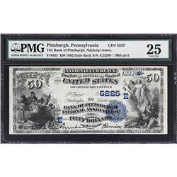 Pittsburgh, Pennsylvania. 1882 $50 Date Back. Fr. 563. Bank of Pittsburgh National Association. Char