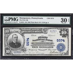 Lot of (2) Pennsylvania 1902 $10 Plain Back National Banknotes. PMG Graded.