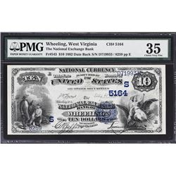 Wheeling, West Virginia. 1882 $10 Date Back. Fr. 545. National Exchange Bank. Charter 5164. PMG Choi