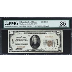 Lot of (4) National Banknotes. PMG Graded.
