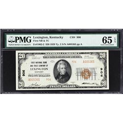 Lot of (5) 1929 National Banknotes. PMG Graded.