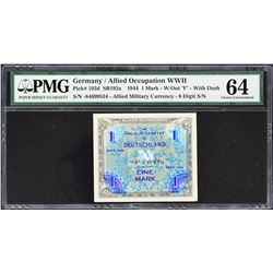 Allied Occupation. 1944, 1 to 1,000 Mark. P191d to 197d & 198b. PMG Graded.