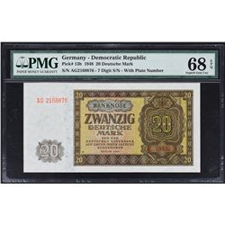 Duetsche Notenbank. 1948 & 1955, 10, 20 & 50 Deutsche Mark. P-Various. PMG Graded.