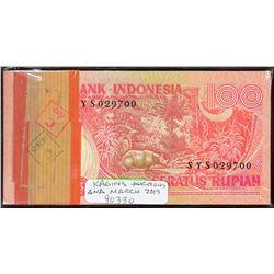 Bank Indonesia. 1977, 100 Rupiah. P-116. Choice to Gem Uncirculated. Original Pack.