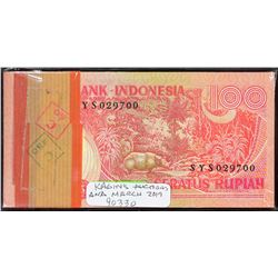 Bank Indonesia. 1977, 100 Rupiah. P-116. Choice to Gem Uncirculated. Original Pack.