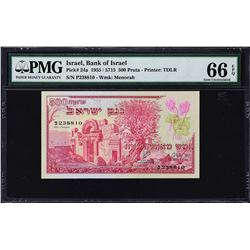 Bank of Israel. 1955. 500 Pruta, 1 to 50 Lirot. P-24a to 26a, 27b & 28b. PMG Graded.