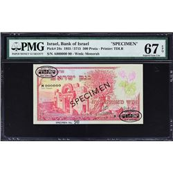 Bank of Israel. 1955. 500 Pruta, 1 to 50 Lirot. P-24s to 28s. Specimens. PMG Graded.