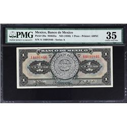 Banco de Mexico. 1936-70, 1 Peso. P-Various. Very Fine to Gem Uncirculated.