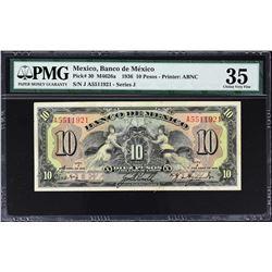Banco de Mexico. 1936-67, 10 Pesos. P-Various. Very Fine to Gem Uncirculated.