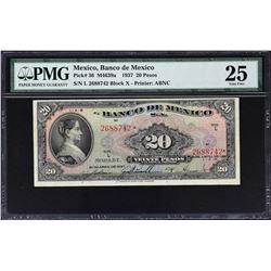Banco de Mexico. 1937-1970, 20 Pesos. P-Various. Very Fine to Gem Uncirculated.