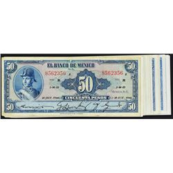 Banco de Mexico. 1943-72, 50 Pesos. P-Various. Very Fine to Gem Uncirculated.