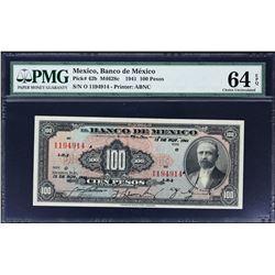 Banco de Mexico. 12.11.1941, 100 Pesos. P-42b. PMG Choice Uncirculated 64 EPQ.