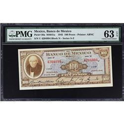 Banco de Mexico. 1945-73, 100 Pesos. P-Various. Very Fine to Gem Uncirculated.