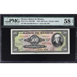 Banco de Mexico. 1958 to 1974, 500 & 1,000 Pesos. PMG Graded.