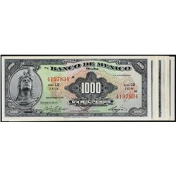 Banco de Mexico. 1961 to 1977, 1,000 Pesos. P-Various. Extremely Fine to Gem Uncirculated.