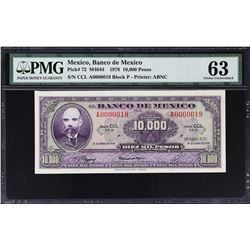 Banco de Mexico. 18.1.1978, 10,000 Pesos. P-72. PMG Choice Uncirculated 63.