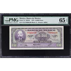 Banco de Mexico. 18.1.1978, 10,000 Pesos. P-72. PMG Graded.