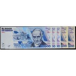 Banco de Mexico. 1985-1992, Mixed Denominations. P-Various. Extremely Fine to Gem Uncirculated.
