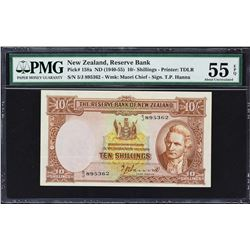 Reserve Bank of New Zealand. ND (1940-67), 10 Shillings. P-158a to 158d. PMG Graded.