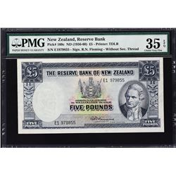 Reserve Bank of New Zealand. ND (1956-60), 5 Pounds. P-160c. PMG Choice Very Fine 35 EPQ.