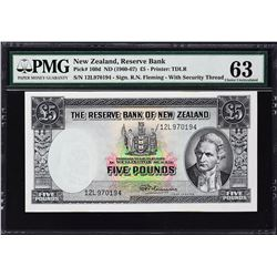 Reserve Bank of New Zealand. ND (1960-67), 5 Pounds. P-160d. PMG Choice Uncirculated 63.