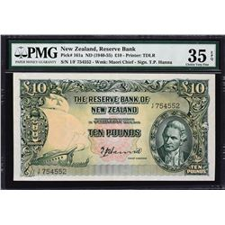 Reserve Bank of New Zealand. ND (1940-55), 10 Pounds. P-161a. PMG Choice Very Fine 35 EPQ.