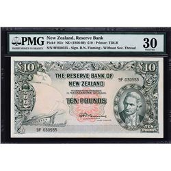 Reserve Bank of New Zealand. ND (1956-60), 10 Pounds. P-161c. PMG Very Fine 30.