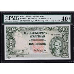 Reserve Bank of New Zealand. ND (1960-67), 10 Pounds. P-161d. PMG Extremely Fine 40 EPQ.