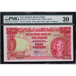 Reserve Bank of New Zealand. ND (1940-55), 50 Pounds. P-162a. PMG Very Fine 30.