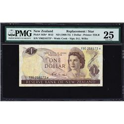 Reserve Bank of New Zealand. ND (1968-81), 1 to 20 Dollars. P-163b* to 167b*. PMG Graded.