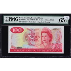 Reserve Bank of New Zealand. ND (1967-68), 100 Dollars. P-168a. PMG Gem Uncirculated 65 EPQ.