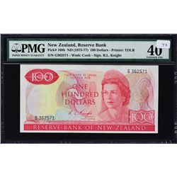 Reserve Bank of New Zealand. ND (1975-77), 100 Dollars. P-168b. PMG Extremely Fine 40.